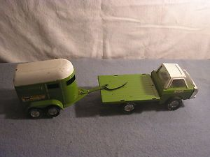 Vintage Toy Nylint Truck Horse Trailer Green  Farms