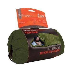 Sol Escape Bivvy OD Green Bivy Tent Sleeping Bag Liner Survival Gear Bob Shelter