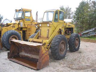 Michigan Wheel Loader Gas Engine 4x4 Cab Dozer Gravel