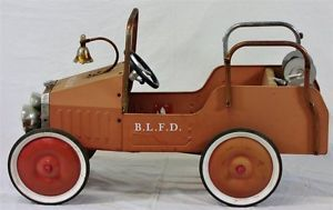 Vintage Buddy L Fire Engine Pedal Car BLFD