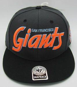 MLB San Francisco Giants Snapback Cap Hat SF Baseball Caps Hats 47BRAND