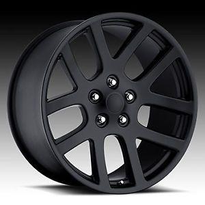 "20"" SRT10 Dodge RAM Laramie Hemi Durango Factory Style Wheels Rims Satin Black"