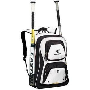 Easton Rev Baseball Softball Bat Pack Backpack Bag White Black