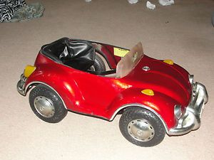 Volswagen VW Pedal Car Electric Battery RARE Vintage Bug Steel Body Dune Buggy