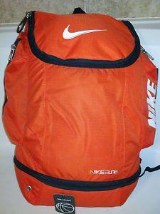 Nike Elite Ball Carry Backpack Orange Basketball Bag Saco Mochila Bolsa Jordan