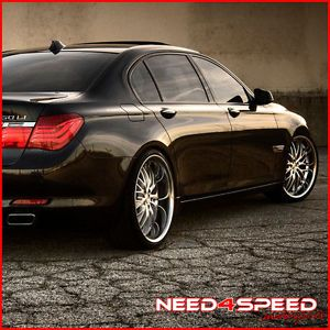 "22"" MRR GT1 Chrome Staggered Wheels Rims Fits BMW E65 E66 745 750 760 7 Series"