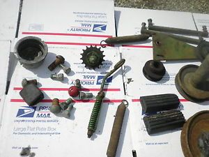John Deere 57 Rear Engine Riding Mower Misc Parts Pulleys Springs Etc