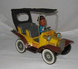 Vintage Hubley Mr Magoo Battery Op Tin Litho Car Toy Loose