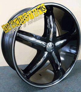 "20"" inch Wheels Rims Tires DW 9 Black 5x114 3 Lexus Toyota Avalon Accord Civic"