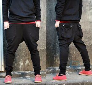 Men's Casual Baggy Harem Hip Hop Dance sweat Sport Pants Trousers Slacks 4 Sizes