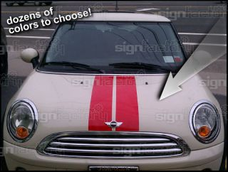2001 and Up Mini Cooper Custom Vinyl Decal Graphics Hood Stripe 2