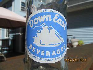Down East Beverages ACL 6 oz Soda Bottle Coca Cola Bottling Portland Maine