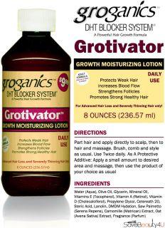Groganics DHT Blocker System Grotivator Growth Moisturizing Lotion