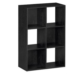 Storage Build 6 Cube Storage Bookcase, Black Ebony Ash