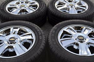 "20"" Chevrolet Tahoe Silverado 1500 Truck Chrome Wheels Rims Tires 5416"