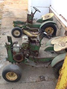 Two 1964 John Deere 110 Three Speed Garden Tractors RARE Narrow Wheels Parts