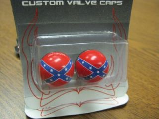 2 Rebel Flag Confederate Flag Valve Stem Caps Covers Bike Motorcycle Harley