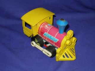 Vintage Fisher Price TOOT TOOT Train Engine Pull Toy 1964 No 643 6x4""