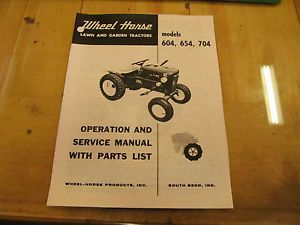 Wheel Horse 604 654 704 Tractor Operation Service Parts Manual
