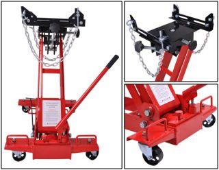 "1 Ton 8 28"" Lift Transmission Jack Low Profile Hydraulic Automotive Floor Tranny"