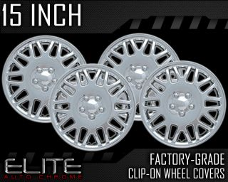 """1993 2000 Plymouth Voyager 15"""" Silver Clip on Hubcaps"""