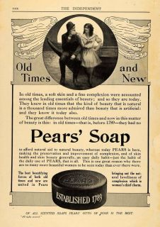 1907 Ad Pears' Soap Beauty Product Skin Care Complexion Original Advertising