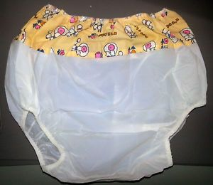 10 Medium Random Plastic Pants Incontinence Abdl Assorted PVC Vinyl Cloth Diaper
