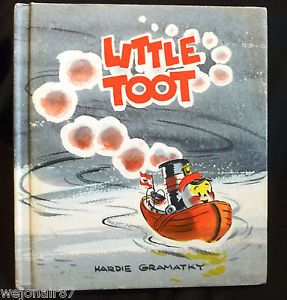 Vtg 70's HC Little TOOT Hardie Gramatky Weekly Reader Children's Book Club