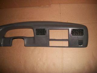 99 01 Ford F250 F350 Dash Radio Cluster Bezel Grey Cig Lighter Sensor
