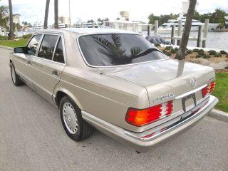 91 Mercedes 350SDL Turbo Diesel 84K Orig 1 Elderly Owner Records Amazing Cond FL