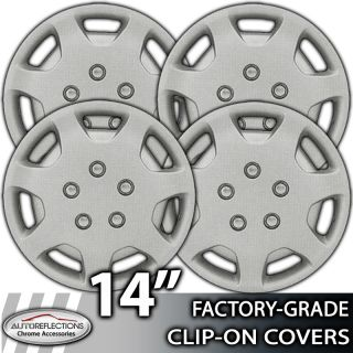 """1991 2000 Toyota Camry 14"""" Silver Clip on Hubcaps Wheel Covers"""