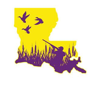 Louisiana Purple and Gold Duck Hunting Decals