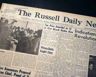 1961 Roger Maris New York Yankees Home Run 61 Babe Ruth Record Beaten Newspaper