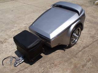 Liberty Motorcycle Trailer Fiberglass Pull Behind Cargo Luggage Harley Goldwing