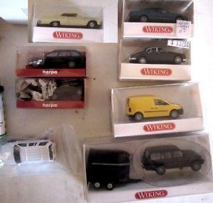 16 HO Scale Cars Trucks Trailers Wiking Herpa Busch Rietze Schuco Ricko