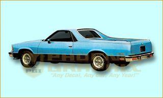 1984 1985 1986 1987 Chevrolet El Camino SS Super Sport Décor Decals Stripes Kit