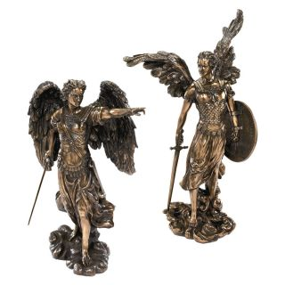 Uriel Raphael Set Archangel Heavenly Army Warrior Collection Spiritual Statues