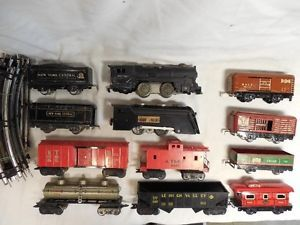 Vintage Marx Trains Lot 1 2 Steamers 8 Freight Cars Track