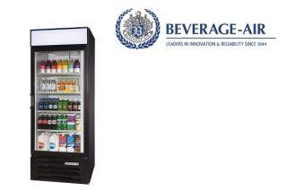Beverage Air Commercial Refrigerator Lumavue Glass Door 27 CU ft Hinged Door L