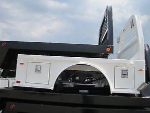 White cm SK Truck Bed with Tool Boxes Flatbed Service Body Utility 1520649
