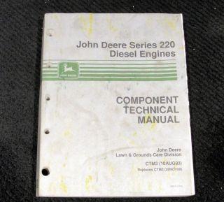 John Deere 670 770 870 970 1070 430 755 855 Diesel Tractor Engines Repair Manual