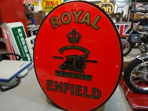 Royal Enfield Motorcycle Dealer Embossed Sign Parts Accessories EC0020