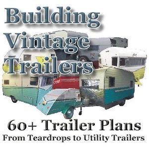 60 Plans How to Build Teardrop Tear Drop Popup Utility etc Trailers Homesteadaz