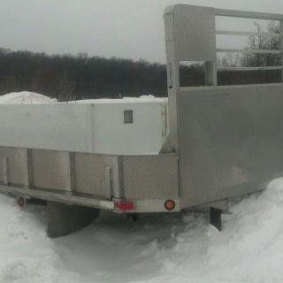"14 5' Aluminum Flat Bed Utility Bed Service Bed 34"" Frame Rails"