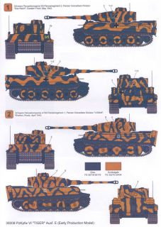 Techmod Decals 1 35 PzKpfw VI Tiger E Tank Early Model