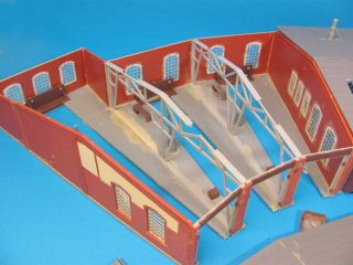 Faller H0 Ringlokschuppen 9 Ständig Lokschuppen Gebaut HO 1 87 Scale Engine Shed