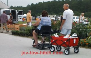 Pride Victory 3 or 4 Wheel Medical Mobility Scooter Wagon Trailer JCV Tow Hitch