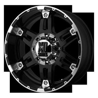 "18"" x 8 5"" XD Spy Machined Rims w 35x12 50x18 Toyo Open Country MT Tires Wheels"