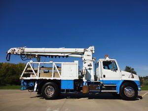 FL70 9 Ton Crane Truck Auger Digger Derrick Service Bed Utility Mechanics Winch