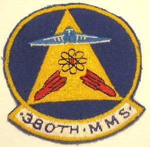 USAF Air Force Military Patch Sac FB111 380th Munitions Maintenance Squadron